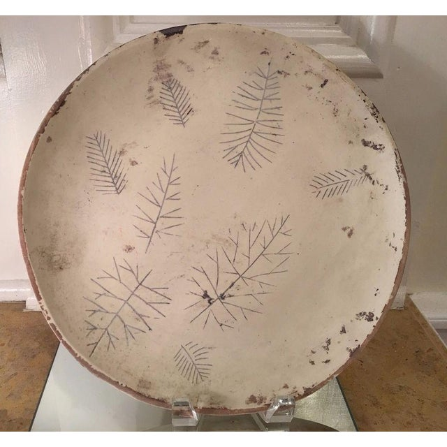 Rare Original Sascha Brastoff Unfired Modernist Plate from Artist's Collection IN EXCELLENT CONDITION!!! This wonderful...