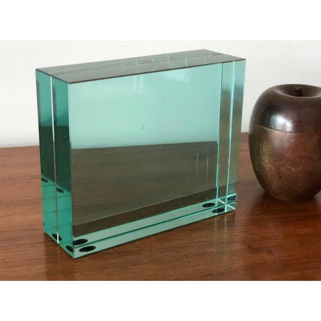 Fontana Arte 1980s Minimalist Fontana Arte Green Glass Picture Frame For Sale - Image 4 of 5