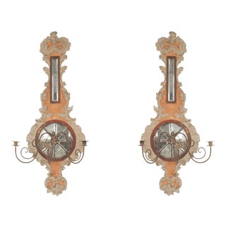 19th-20th Century Italian Neoclassic Wall Sconces - a Pair For Sale