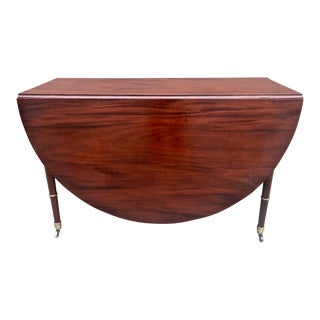 Georgian Mahogany Drop Leaf Table For Sale