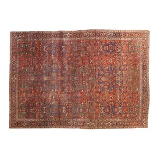"Antique Fereghan Carpet - 7'2"" X 10'2"""