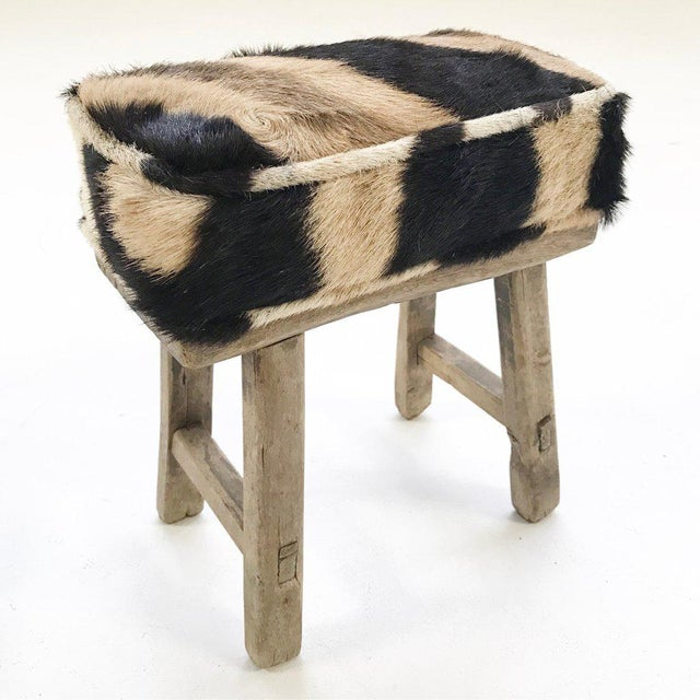 Forsyth Mini Bench with Zebra Hide Cushion - Image 2 of 4