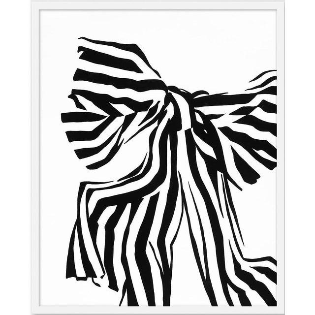 "Medium ""White Bow"" Print by Angela Chrusciaki Blehm, 28"" X 35"" For Sale"