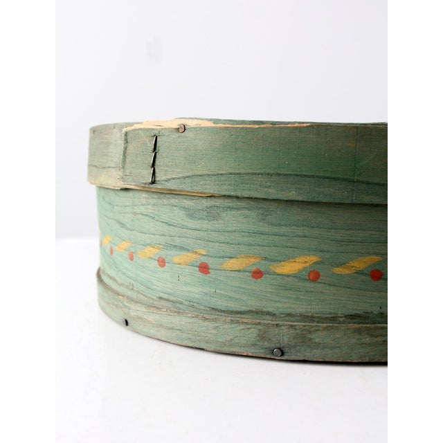 Antique Painted Band Box - Image 6 of 8