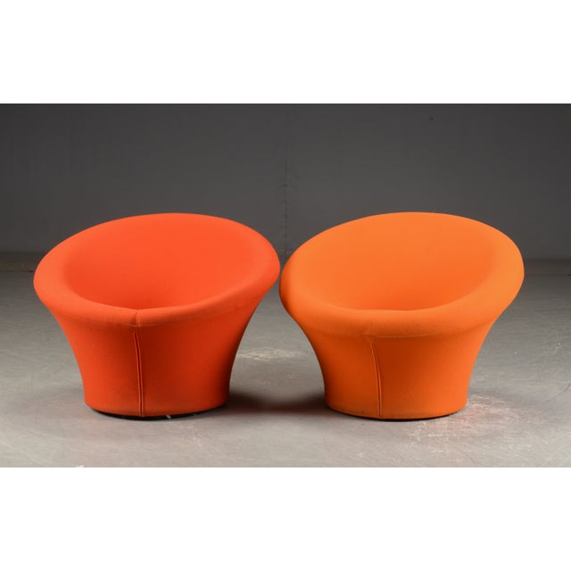 """1970s Pierre Paulin for Artifort Pair of Model """"Mushroom"""" Arm Chairs For Sale - Image 5 of 6"""