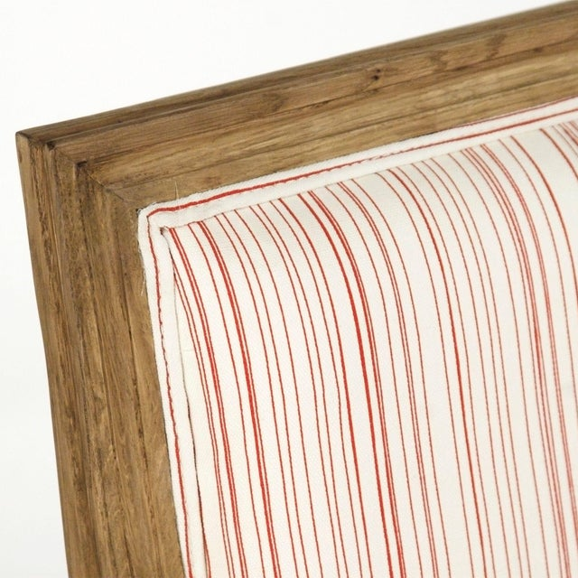 2020s Audley Sofa in White Cotton with Red Stripes For Sale - Image 5 of 6