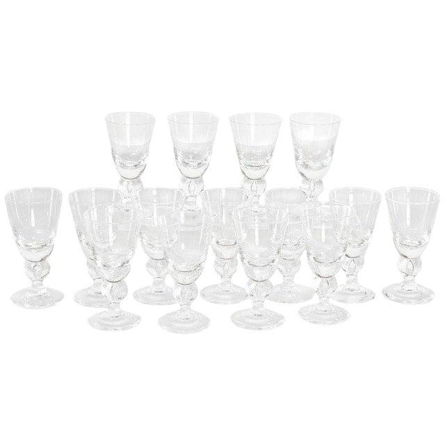 Set of Fifteen (15) Steuben Baluster Water Goblets For Sale