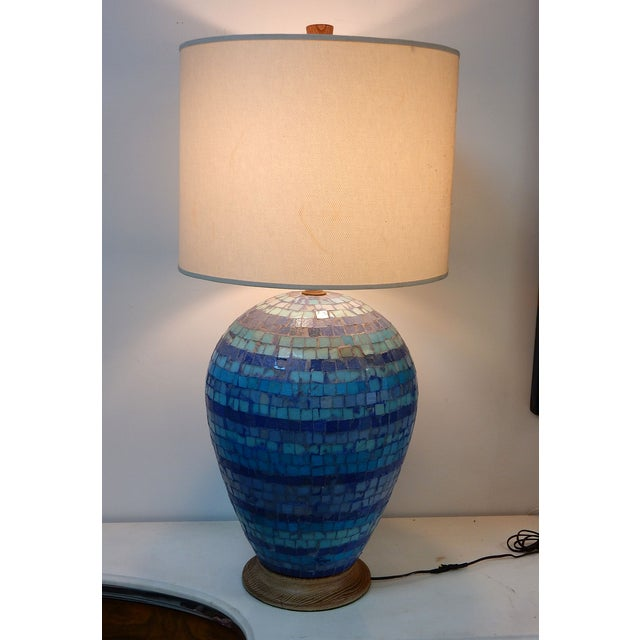 Mid Century Mosaic Table Lamp by Fisher - Image 2 of 8