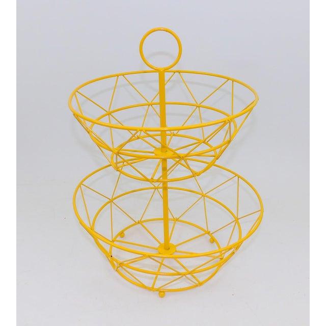 Yellow Metal Fruit Basket - Image 6 of 6