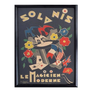 French Art Deco Poster by George Conde For Sale
