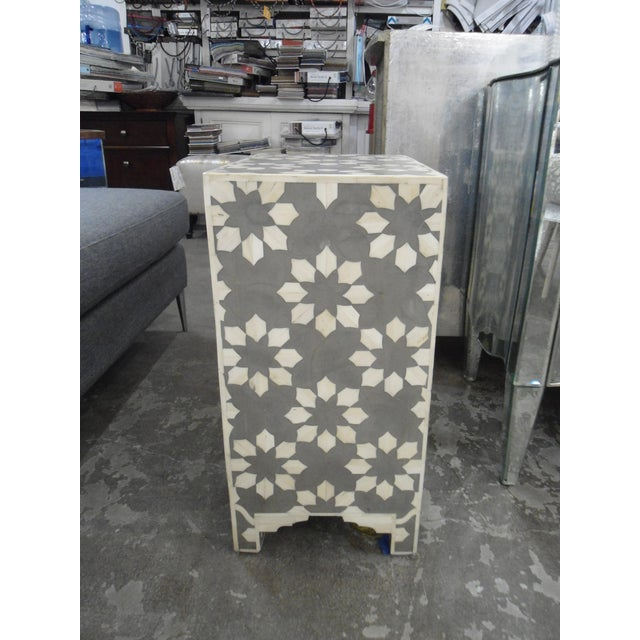 HD Buttercup HD Buttercup Bone Inlay Nightstand For Sale - Image 4 of 5