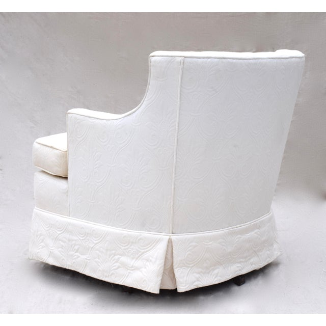 Swivel Rocking Club Chairs - A Pair - Image 9 of 11