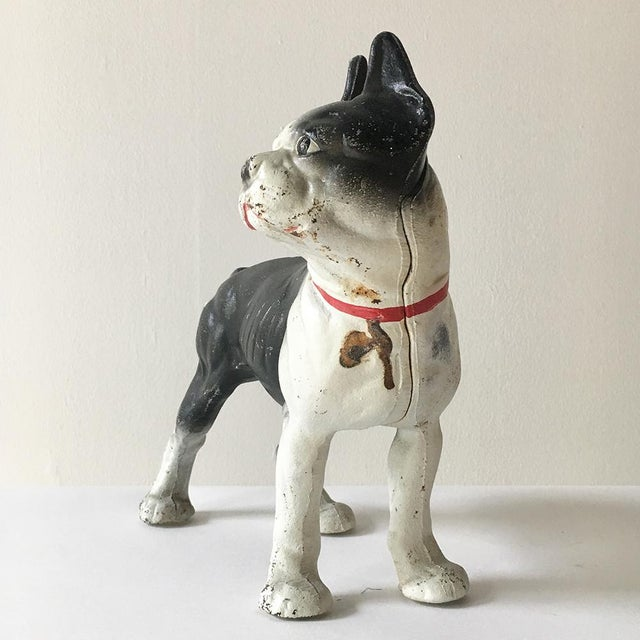 Painted Cast Iron French Bulldog Door Stop Picture with another, ref M3829