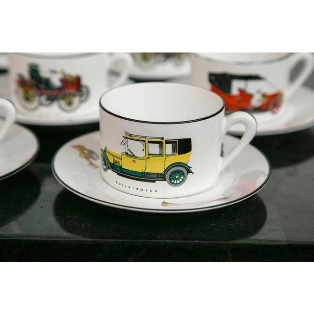 Limoges Antique Car Motif Coffee Set - 30 Pieces - Image 3 of 9