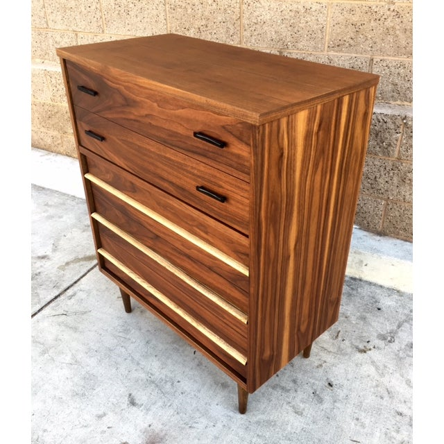 Mid-Century Walnut Highboy Dresser - Image 3 of 3