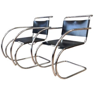 Vintage Mies Van Der Rohe Mr Armchairs by Stendig - a Pair For Sale