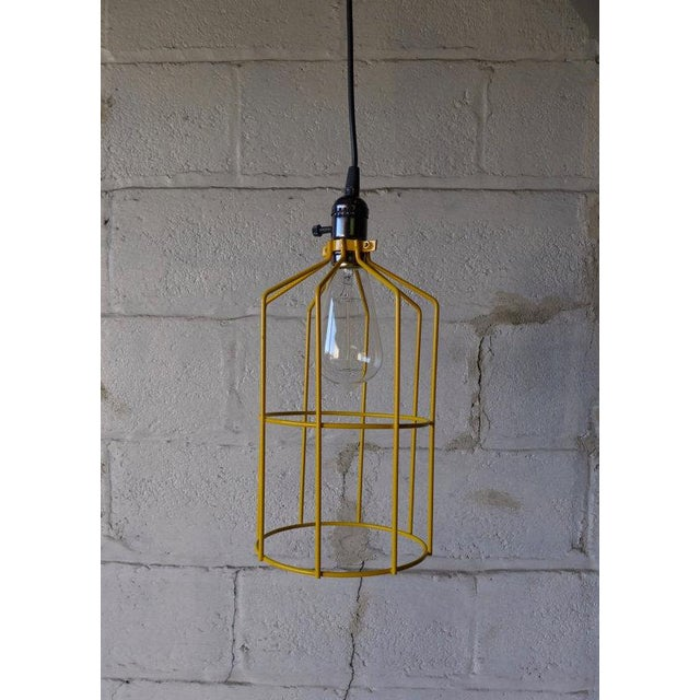 Canary Yellow Mid Century Styled Pendant Lamp For Sale - Image 7 of 7
