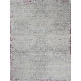 Schumacher Patterson Flynn Martin Wasabi Hand Knotted Wool Silk Modern Rug For Sale