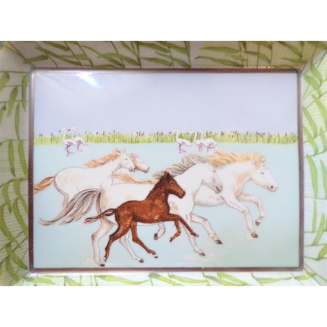 Vintage Hermes Running Horses Ashtray / Catchall For Sale - Image 9 of 11