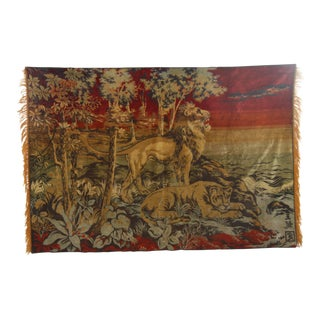 1960s Vintage Woven Wall Tapestry