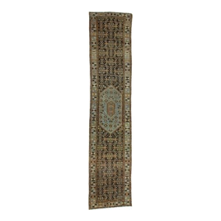 Antique Distressed Persian Malayer Runner Rug - 3′8″ × 16′7″