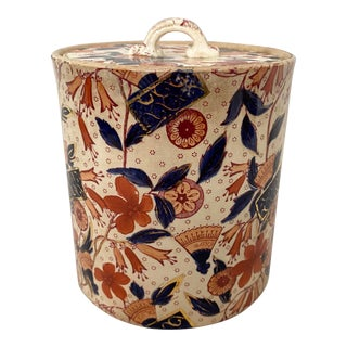 """Antique Cumberlidge & Humphreys """"Japanese"""" Tea Caddy Canister For Sale"""