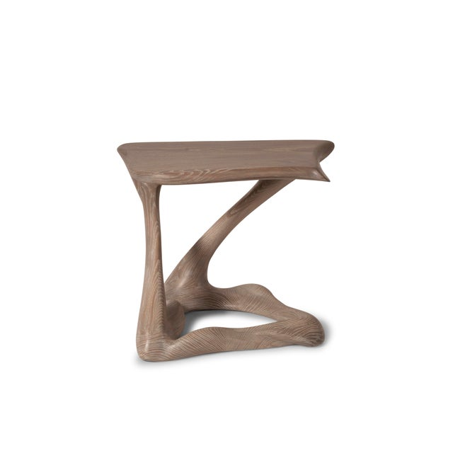 Contemporary Amorph Tryst Side Table in Gray Custom Stain For Sale - Image 3 of 9