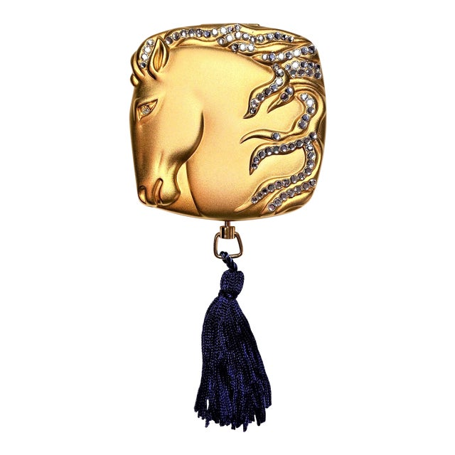 2001 Estee Lauder Year of the Horse Compact For Sale