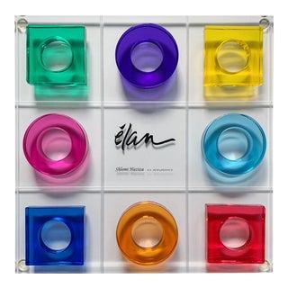 Schlomi Haziza Tic Tac Toe Acrylic Sculpture Board Game For Sale