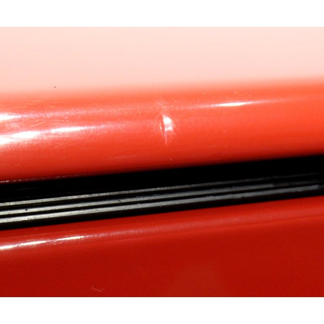 80s Modern Cherry Red Lacquered Nightstands by Roger Rougier For Sale - Image 9 of 11