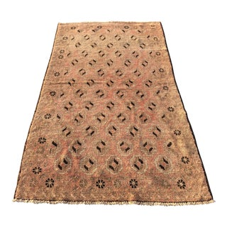 Vintage Turkish Oushak Rug - 3′6″ × 6′4″