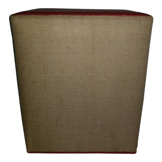 Mordern Custom Upholstered Stool or Accent Piece For Sale