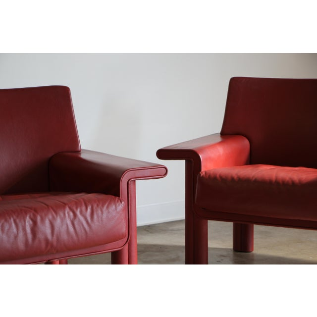 Mid-Century Modern Afra & Tobia Scarpa Lounge Chairs - a Pair For Sale - Image 3 of 13