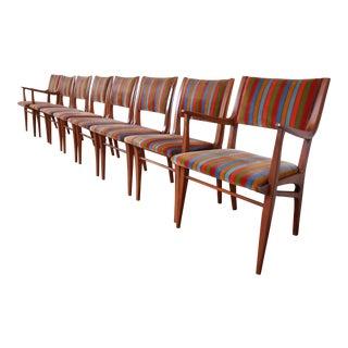 John Van Koert for Drexel Profile Mid-Century Modern Dining Chairs, Set of Eight For Sale