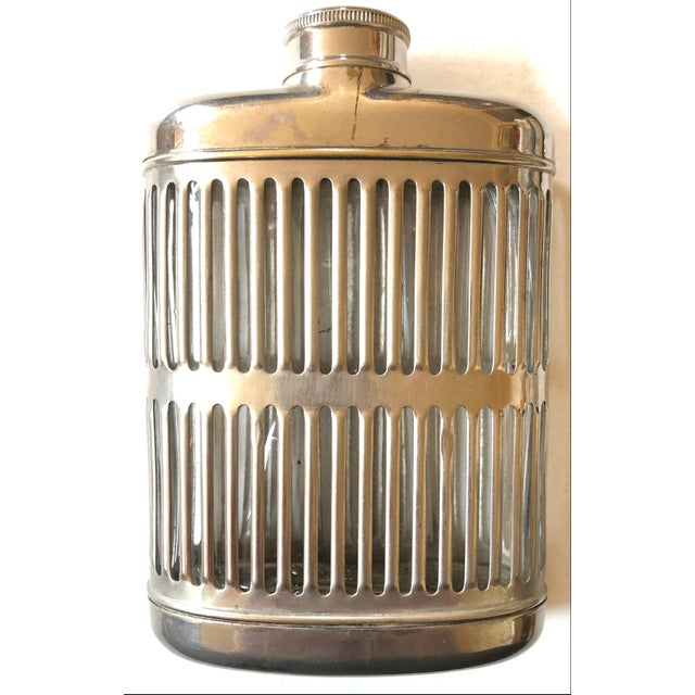 Silver Metal Hip Flask For Sale In San Francisco - Image 6 of 6
