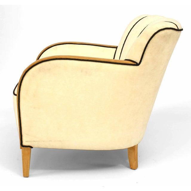 Biedermeier Swedish Biedermeier Maple Club Chair For Sale - Image 3 of 5