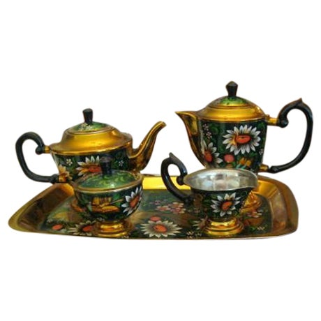 New Hand Painted Russian Vintage Tea and Coffee Set ~ Circa 1960's to 1970's - Image 1 of 11