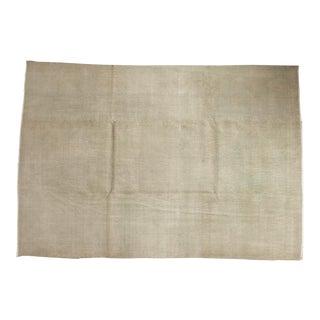 "Vintage Distressed Oushak Carpet - 7'4"" x 10'6"" For Sale"