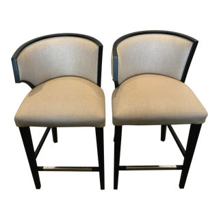 Contemporary Counter Stools - A Pair For Sale