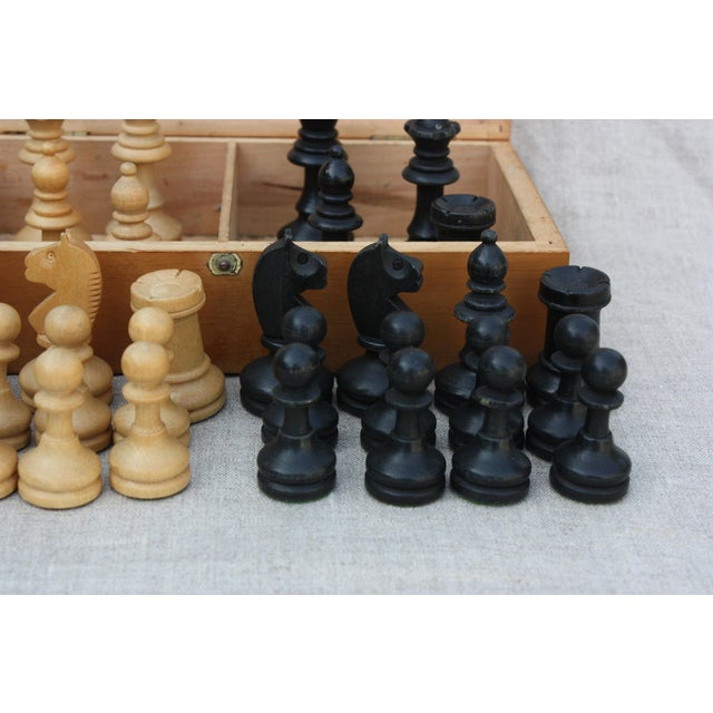Vintage Wood Chess Set - Image 3 of 4