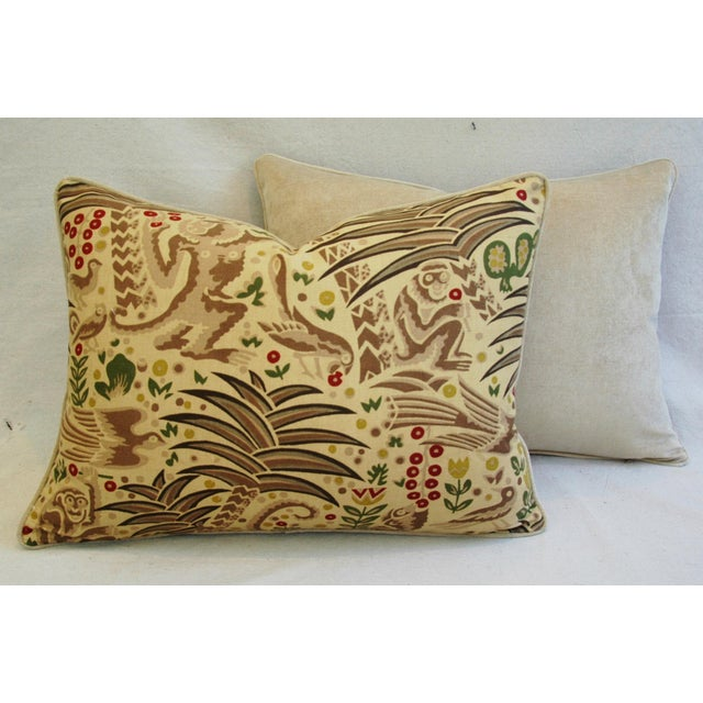 Custom Clarence House Gibbon Fabric Pillows- A Pair - Image 10 of 10