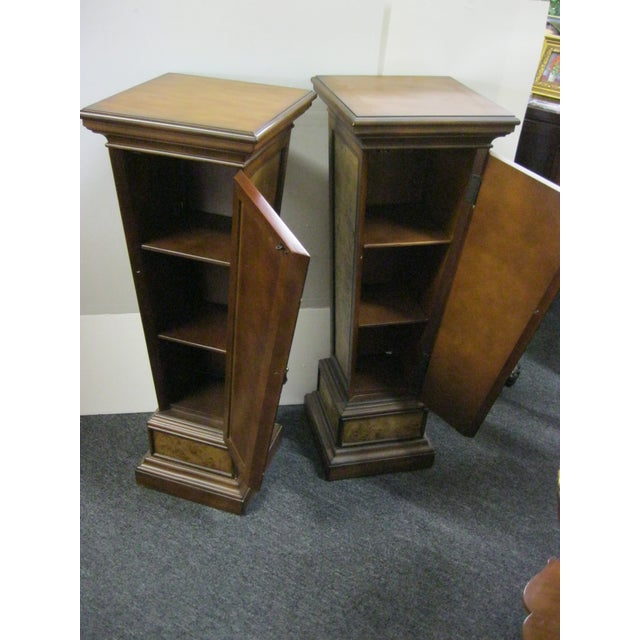 Brown Pedestal Storage Cabinets- A Pair - Image 5 of 10