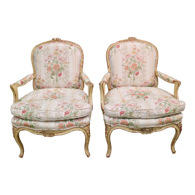 french fauteuil bergere chairs c 1910 - Fauteuil Bergere