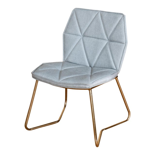 Tally Gold Chrome Dining Chair For Sale