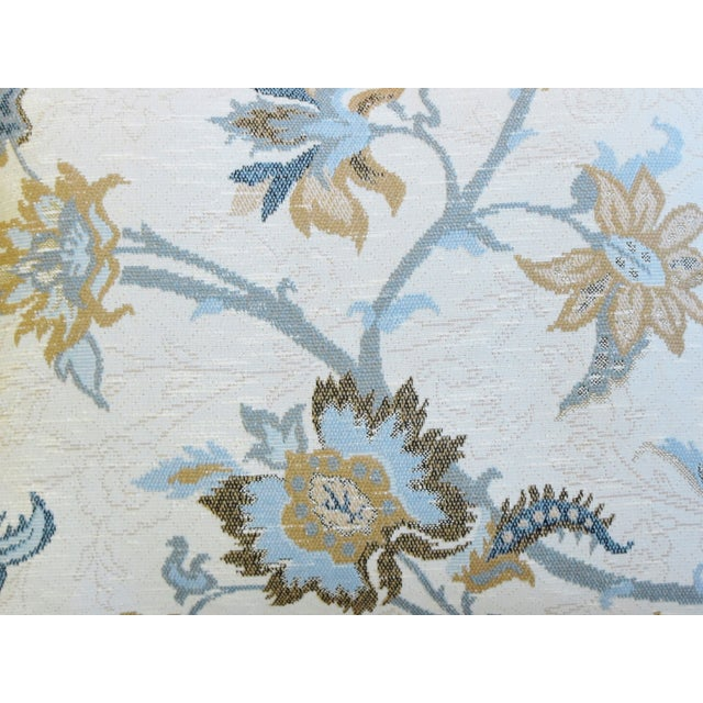 "Designer Italian Floral Linen Velvet Feather/Down Pillows 24"" X 18"" - Pair For Sale - Image 4 of 13"