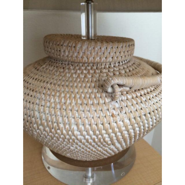 Richard Lindley Rattan Basket Lamp - Image 7 of 9