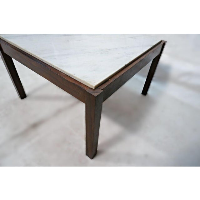 Danish Modern Rosewood & Marble Coffee Table - Image 6 of 10