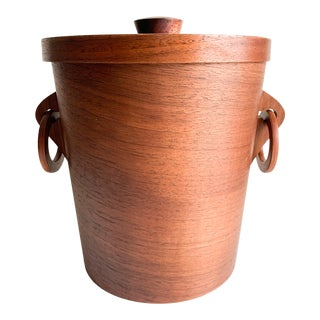 Mid-Century Teak Ice Bucket For Sale