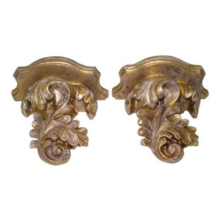 1970s Vintage Syroco Corbels - a Pair For Sale