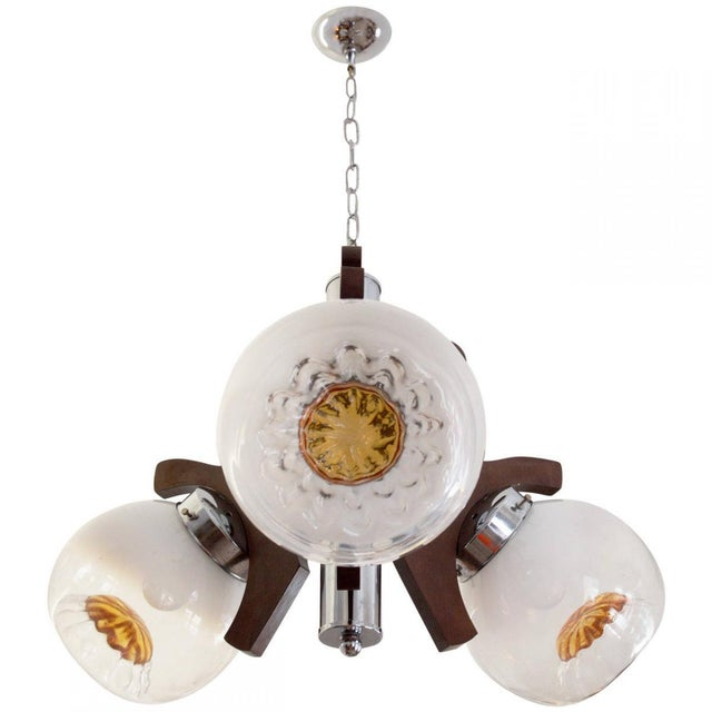 Vintage Murano Glass Ceiling Lamp, 1970s For Sale - Image 10 of 10